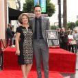 Jim Parsons et sa mère Judy Parsons - Jim Parsons reçoit son étoile sur Hollywood Walk of Fame, le 10 mars 2015