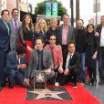 Kunal Nayyar, Mayim Bialik, Ashley Jones, Simon Helberg,Johnny Galecki, Kaley Cuoco, Jim Parsons - Jim Parsons reçoit son étoile sur Hollywood Walk of Fame, le 10 mars 2015