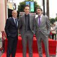 Jim Parsons, Jeffrey Katzenberg, Chuck Lorre - Jim Parsons reçoit son étoile sur Hollywood Walk of Fame, le 10 mars 2015