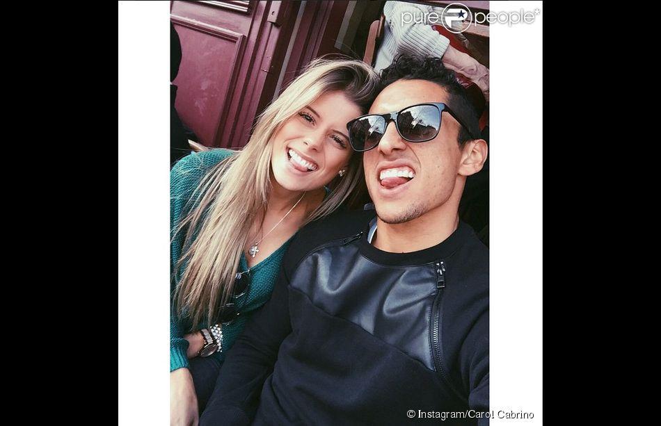 Carol Cabrino et Marquinhos, photo publiée sur le compte Instagram de la jeune femme le 8 mars 2015