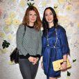 Gwendoline Hamon et Rowena Forrest au lancement de la collection printemps-été 2015 de Rowena Forrest à la galerie Nabokov, à Paris, le 19 mars 2015