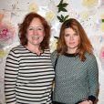 Eva Darlan et Gwendoline Hamon au lancement de la collection printemps-été 2015 de Rowena Forrest à la galerie Nabokov, à Paris, le 19 mars 2015