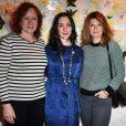 Eva Darlan, Rowena Forrest et Gwendoline Hamon au lancement de la collection printemps-été 2015 de Rowena Forrest à la galerie Nabokov, à Paris, le 19 mars 2015