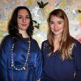 Rowena Forrest et Deborah Francois au lancement de la collection printemps-été 2015 de Rowena Forrest à la galerie Nabokov, à Paris, le 19 mars 2015