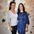 Jovanka Sopalovic et Rowena Forrest au lancement de la collection printemps-été 2015 de Rowena Forrest à la galerie Nabokov, à Paris, le 19 mars 2015