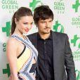 """Miranda Kerr, Orlando Bloom à la 10e cérémonie annuelle pré-Oscar """"Global Green"""" à Hollywood. Le 20 février 2013."""