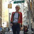 Laeticia Hallyday à New York pour son 40e anniveraire, mars 2015.