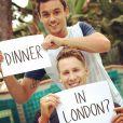 Tom Daley et son chéri Dustin Lance Black sur Instagram le 12 décembre 2014