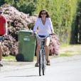 Exclusif - Cindy Crawford et son mari Rande Gerber font du vélo à Malibu, le 7 mars 2015.