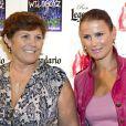 Maria Dolores et Elma Aveiro lors de la présentation du dernier single de   Liliana Cátia Ronaldo, aka Katia, soeur de Cristiano Ronaldo, à Madrid le 18 septembre 2013