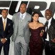 """Dwayne Johnson, Ludacris, Tyrese Gibson, Michelle Rodriguez - Avant-première du film """"Fast and Furious 7"""" à Hollywood, le 1er avril 2015."""