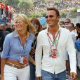 Arthur et Estelle Lefébure au Grand Prix de Monaco, le 1er juin 2003.