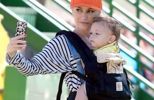 Gwen Stefani en famille : Pause selfie avec son adorable petit Apollo