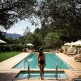 Emily Ratajkowski et sa piscine au Calistoga Ranch dans la Napa Valley, photo Instagram du 24 mars 2015