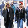 Les soeurs Scout et Tallulah Willis se promènent dans les rues de New York, le 22 mars 2015