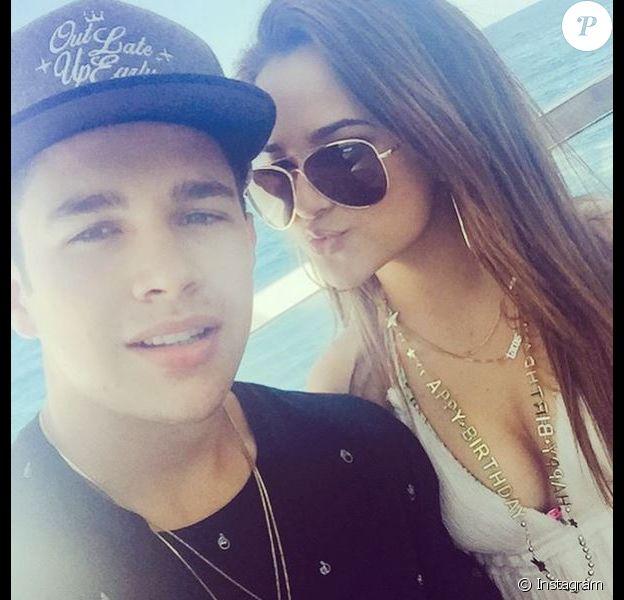 Austin Mahone et Becky G sur Instagram le 4 avril 2015