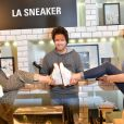 """Exclusif - Fauve Hautot, Jean Imbert et Laury Thilleman - """"Reebok Happy Party"""" par Ma Demoiselle Pierre au Printemps Haussmann à Paris, le 9 avril 2015."""