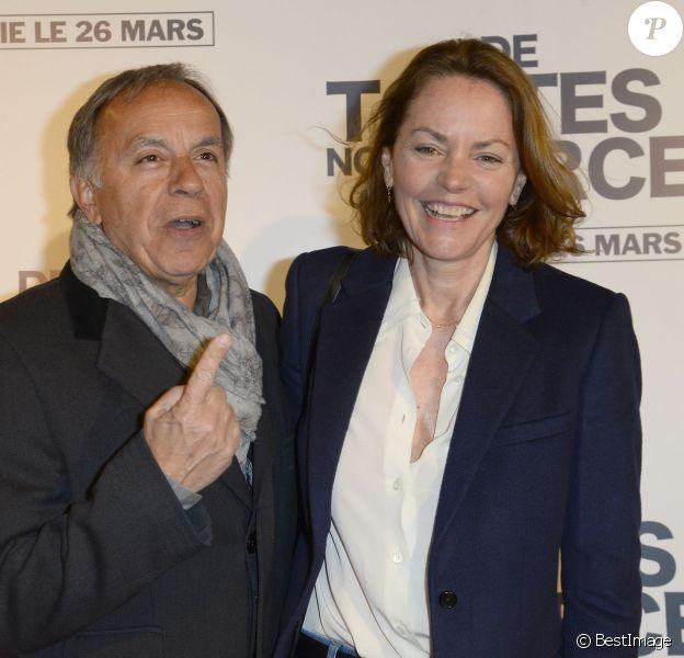 """Patrice Dominguez et sa femme Cendrine - Avant-première du film """"De Toutes Nos Forces"""" au Gaumont Opéra à Paris, le 17 mars 2014."""
