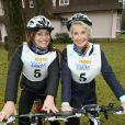 Shirley Bousquet et Danièle Gilbert au raid du Touquet 2015. Le 11 avril 2015