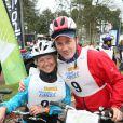 Christine Janin et Claudio Lemmi au raid du Touquet 2015. Le 11 avril 2015