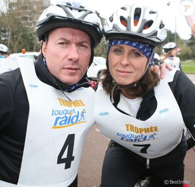 Pascal Soetens et Valérie Fignon au raid du Touquet 2015. Le 11 avril 2015