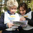 Danièle Gilbert et Shirley Bousquet au raid du Touquet 2015. Le 11 avril 2015
