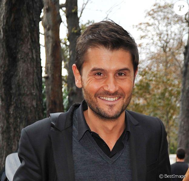 Exclusif - Christophe Beaugrand à l'enregistrement de l'émission Vivement dimanche à Paris le 22 octobre 2014.