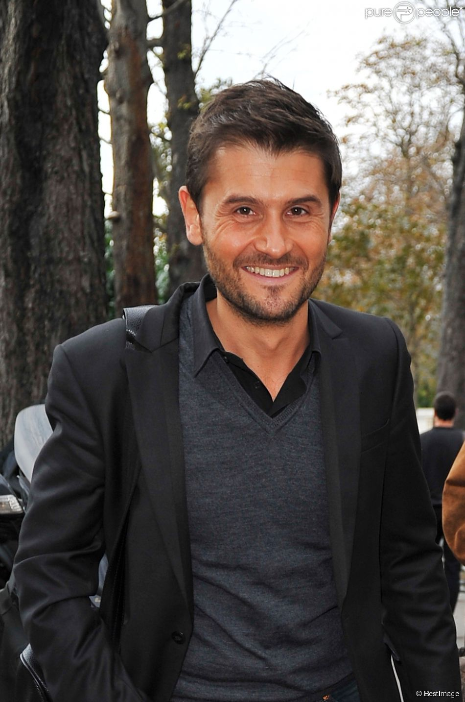 Exclusif - Christophe Beaugrand à l'enregistrement de l'émission  Vivement dimanche  à Paris le 22 octobre 2014.