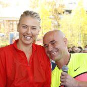 Maria Sharapova : Sourires et rires avec Andre Agassi, la beauté russe au top