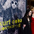 "Courtney Love et sa fille Frances Bean Cobain assistent à la première du film ""Kurt Cobain : Montage of Heck"" à Hollywood, le 21 avril 2015."