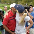 Tiger Woods et Lindsey Vonn lors de la Presidents Cup au Muirfield Village Golf Club de Dublin, le 5 octobre 2013