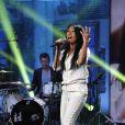 """Exclusif  - Anggun - Enregistrement de l'émission """"Du côté de Chez Dave"""" Spéciale Eurovision, qui sera diffusée le 17 mai 2015 sur France 3 19/04/2015 - Paris"""