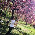 Pauline Ducruet sous un cerisier en fleurs dans Central Park, à New York. Photo Instagram publiée le 4 mai 2015, le jour de ses 21 ans.