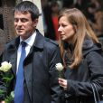 Manuel Valls et sa femme Anne Gravoin à Paris le 3 juin 2013.