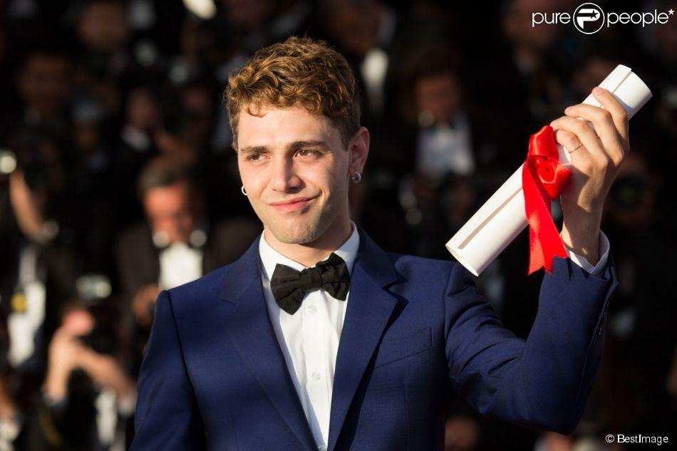 """Xavier Dolan, Prix du Jury pour """"Mommy"""" à Cannes le 24 mai 2014."""