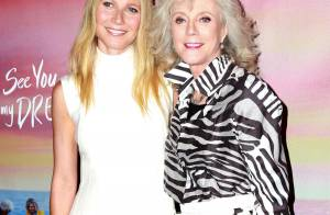 Gwyneth Paltrow : Tendre baiser avec Brad lors d'une soirée avec sa mère Blythe
