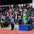 La comtesse Sophie de Wessex assiste à une cérémonie commémorant le 70e anniversaire de la libération de l'île de Guernesey, le 9 mai 2015.