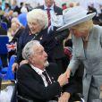 Le prince Charles et Camilla Parker Bowles assistaient à une réception avec les vétérans de la Royal British Legion pour le 70e anniversaire de la fin de la Seconde Guerre Mondiale, à Londres, le 10 mai 2015