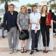 """Benoît Magimel, Catherine Deneuve, Rod Paradot, Emmanuelle Bercot, Sara Forestier - Photocall du film """"La Tête haute"""" (hors compétition) lors du 68ème festival de Cannes le 13 mai"""