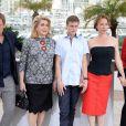"""Benoit Magimel, Catherine Deneuve, Rod Paradot, Emmanuelle Bercot et Sara Forestier - Photocall du film """"La Tête haute"""" (hors compétition) lors du 68ème festival de Cannes le 13 mai 2015"""