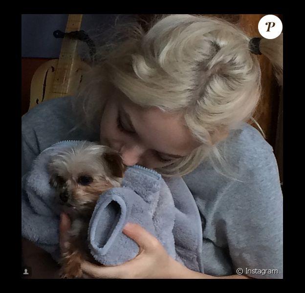 Le 1er décembre 2014 sur Instagram, Lily-Rose Depp a ajouté une photo avec son petit chien.