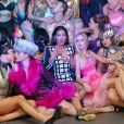 Ayem Nour très entourée - Vernissage de l'exposition du photographe Philippe Shangti au VIP Room à Cannes le 14 mai 2015.