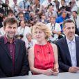 "Nanni Moretti, Margherita Buy et John Turturro - Photocall du film ""Mia Madre"" lors du 68e Festival International du Film de Cannes le 16 mai 2015"