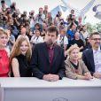 "Margherita Buy, Beatrice Mancini, Nanni Moretti, Giulia Lazzarini et John Turturro - Photocall du film ""Mia Madre"" lors du 68e Festival International du Film de Cannes le 16 mai 2015"