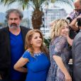 "Gustave Kervern, Tassadit Mandi, Valéria Bruni-Tedeschi, Samuel Benchetrit - Photocall du film ""Asphalte"" lors du 68e Festival International du Film de Cannes, le 17 mai 2015"