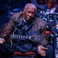 La légende du blues B.B. King à Las Vegas, le 27 septembre 2014.