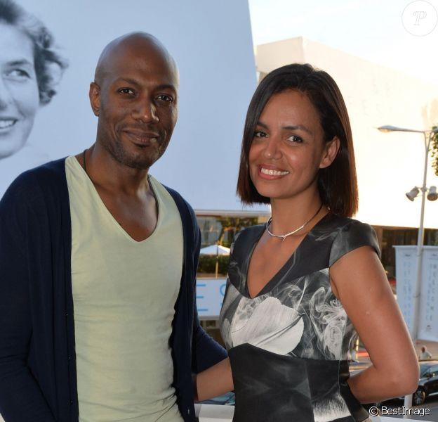 """Exclusif - Harry Roselmack et Laurence Roustandjee - Cocktail """"Vodka Red carpet"""" lors du 68 ème Festival International du Film de Cannes le 18 mai 2015. C'est son compagnon Grégory Ferrié qui est le créateur de cette """"Vodka Red Carpet""""."""