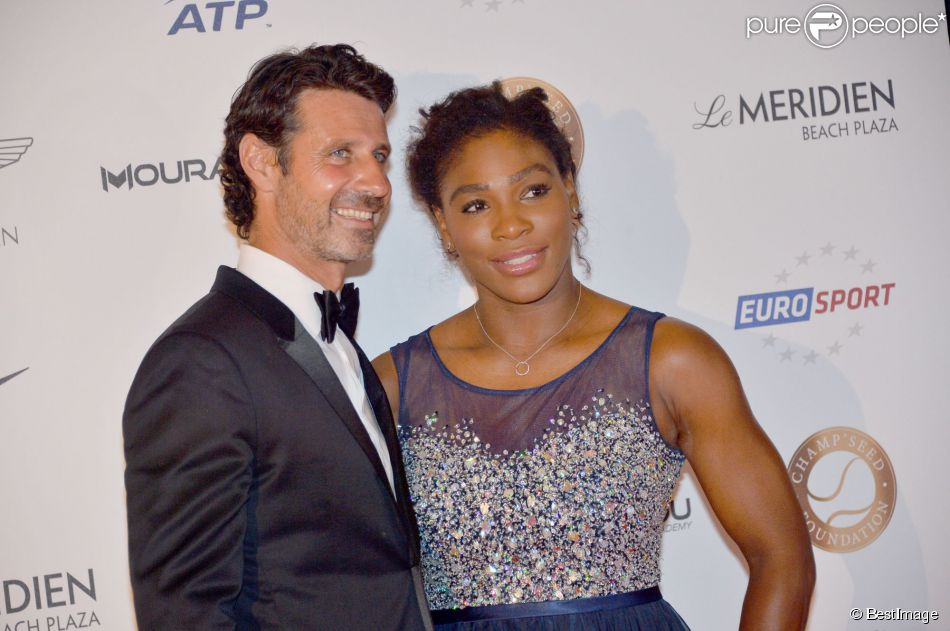 Serena Williams et son compagnon Patrick Mouratoglou lors de la soirée de la fondation Champ'Seed à l'hôtel Méridien de Monte-Carlo à Monaco le 19 mai 2015