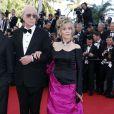 """Jane Fonda et Michael Caine - Montée des marches du film """"Youth"""" lors du 68e Festival International du Film de Cannes, le 20 mai 2015."""