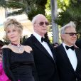 """Jane Fonda, Michael Caine, Harvey Keitel - Montée des marches du film """"Youth"""" lors du 68e Festival International du Film de Cannes, le 20 mai 2015."""